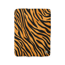 "Load image into Gallery viewer, Tiger Print - 50""x60"" Sherpa Fleece Blanket - JAXGFX"