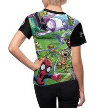 "Load image into Gallery viewer, ""Sinister 6"" - Meents Illustrated Authentic - Full Sublimated Cut & Sew Tee - JAXGFX"