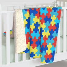 Load image into Gallery viewer, Autism Awareness - Sherpa Fleece Blanket - JAXGFX