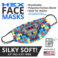 "Load image into Gallery viewer, Autism Awareness ""Super"" Face Mask - By JAX - JAXGFX"