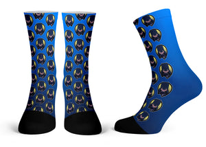 """Batman Pattern"" - Meents Illustrated Authentic Kids Socks"
