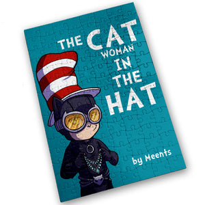 """CATwoman In A Hat"" - Meents Illustrated Authentic Design - 120 Piece Jigsaw Puzzle"