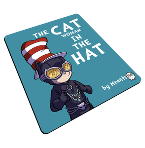 """CATwoman in a Hat"" Meents Illustrated Authentic Mouse Pad"