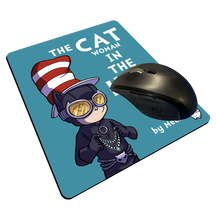 "Load image into Gallery viewer, ""CATwoman in a Hat"" Meents Illustrated Authentic Mouse Pad"