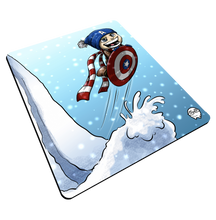 "Load image into Gallery viewer, ""CAP Sledding"" Meents Illustrated Authentic Mouse Pad"