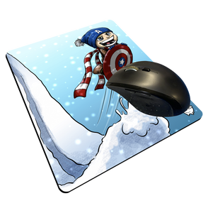 """CAP Sledding"" Meents Illustrated Authentic Mouse Pad"