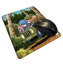 "Load image into Gallery viewer, ""Cap Commandos"" Meents Illustrated Authentic Mouse Pad"