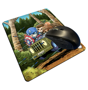 """Cap Commandos"" Meents Illustrated Authentic Mouse Pad"