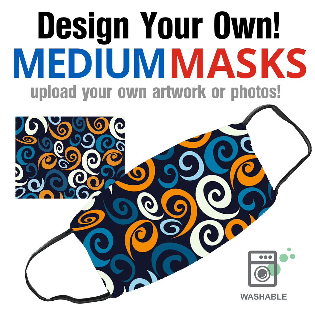 Upload Your Artwork -  Medium (Adult) Face Masks - By JAX