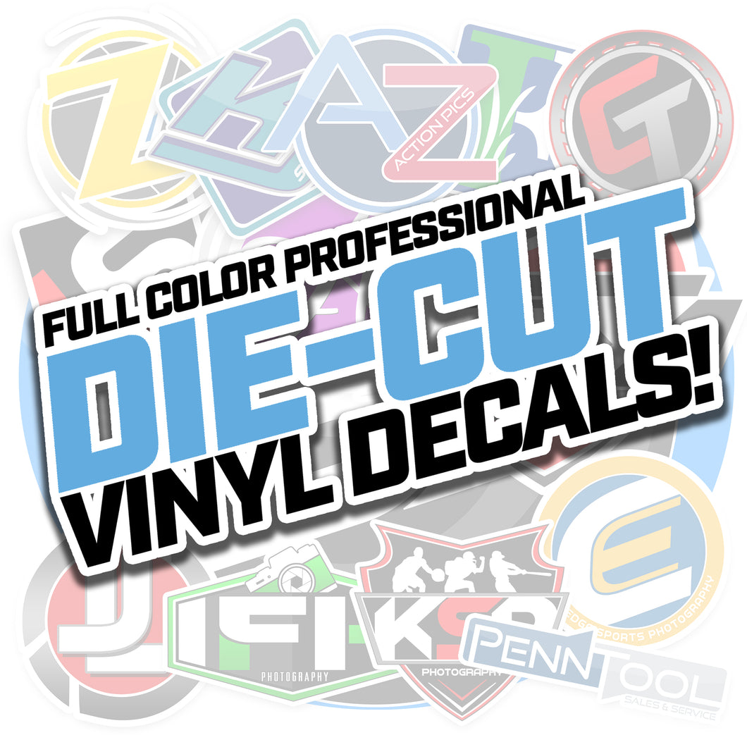 Premium Cast Vinyl Decal Stickers - Die Cut - Upload Your Logo!