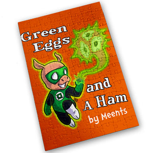 """Green Eggs & A Ham"" - Meents Illustrated Authentic Design - 120 Piece Jigsaw Puzzle"