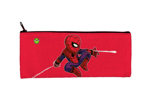 """Spidey"" Meents Illustrated Authentic Small Pencil/Device Bag"