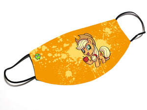 """Applejack"" - Meents Illustrated Authentic Design Face Mask - JAXGFX"