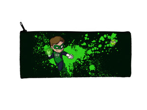 """Green Lantern"" Meents Illustrated Authentic Small Pencil/Device Bag"