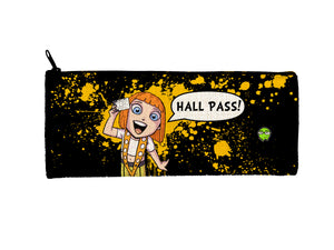 """Hall Pass"" Meents Illustrated Authentic Small Pencil/Device Bag"