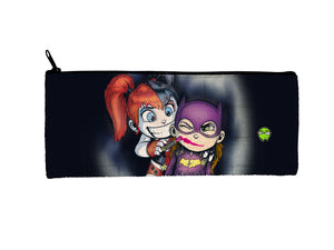 """Harley & Batgirl"" Meents Illustrated Authentic Small Pencil/Device Bag"
