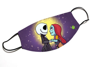 """Jack & Sally"" - Meents Illustrated Authentic Design Face Mask - JAXGFX"
