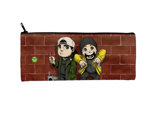 """Jay & Silent Bob"" Meents Illustrated Authentic Small Pencil/Device Bag"