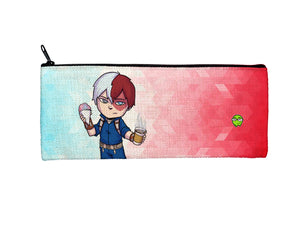 """Todoroki"" Meents Illustrated Authentic Small Pencil/Device Bag"
