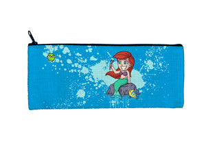 """Ariel"" Meents Illustrated Authentic Small Pencil/Device Bag"