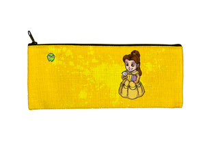 """Belle"" Meents Illustrated Authentic Small Pencil/Device Bag"