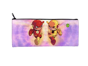 """Flash vs Zoom"" Meents Illustrated Authentic Small Pencil/Device Bag"