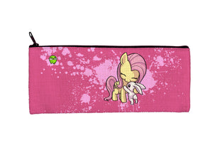 """Fluttershy"" Meents Illustrated Authentic Small Pencil/Device Bag"