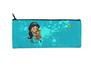 """Jasmine"" Meents Illustrated Authentic Small Pencil/Device Bag"