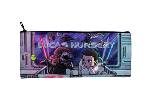 """Kylo & Rey"" Meents Illustrated Authentic Small Pencil/Device Bag"