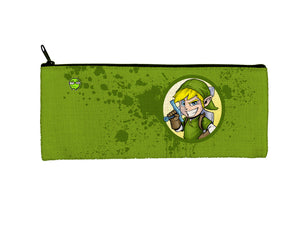 """Link"" Meents Illustrated Authentic Small Pencil/Device Bag"