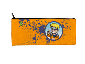 """Naruto"" Meents Illustrated Authentic Small Pencil/Device Bag"