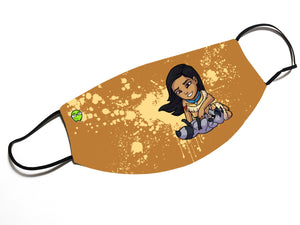 """Pocahontas"" - Meents Illustrated Authentic Design Face Mask"