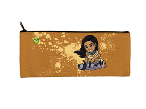 """Pocahontas"" Meents Illustrated Authentic Small Pencil/Device Bag"