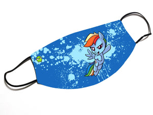 """Rainbow Dash"" - Meents Illustrated Authentic Design Face Mask - JAXGFX"