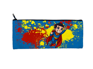"""Superman"" Meents Illustrated Authentic Small Pencil/Device Bag"