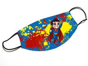 """Superman"" - Meents Illustrated Authentic Design Face Mask - JAXGFX"