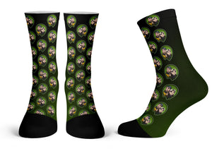 """Jay & Silent Bob Pattern"" - Meents Illustrated Authentic Kids Socks"