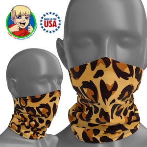 Leopard Print - Face Mask Neck Gaiter - Face Cover