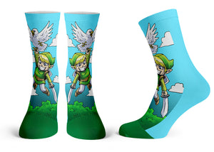 """Link"" - Meents Illustrated Authentic Kids Socks"