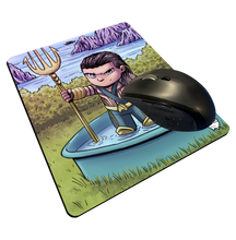 "Load image into Gallery viewer, ""Mamoa Aquaman"" Meents Illustrated Authentic Mouse Pad"