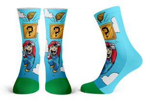 """Mario"" - Meents Illustrated Authentic Kids Socks"