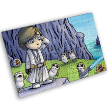 "Load image into Gallery viewer, ""Porg Island"" - Meents Illustrated Authentic Design - 120 Piece Jigsaw Puzzle"
