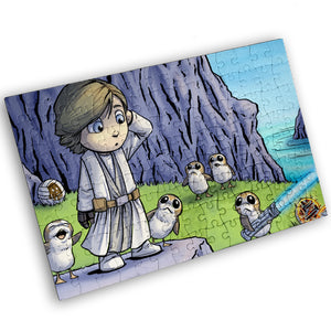 """Porg Island"" - Meents Illustrated Authentic Design - 120 Piece Jigsaw Puzzle"