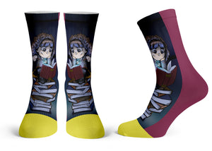 """Hermione"" - Meents Illustrated Authentic Kids Socks"