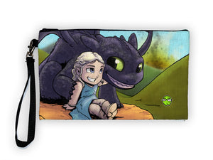 """Dragon Mother"" Meents Illustrated Authentic Large Pencil/Device Bag"