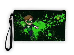 """Green Lantern"" Meents Illustrated Authentic Large Pencil/Device Bag"