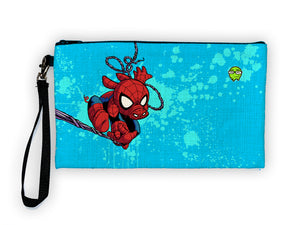 """Spider Ham"" Meents Illustrated Authentic Large Pencil/Device Bag"