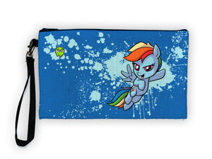 """Rainbow Dash"" Meents Illustrated Authentic Large Pencil/Device Bag"