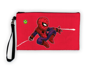 """Spidey"" Meents Illustrated Authentic Large Pencil/Device Bag"