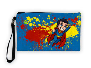 """Superman"" Meents Illustrated Authentic Large Pencil/Device Bag"